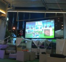Double sided projection screen, dual sides projection screen, film screen, dupic screen